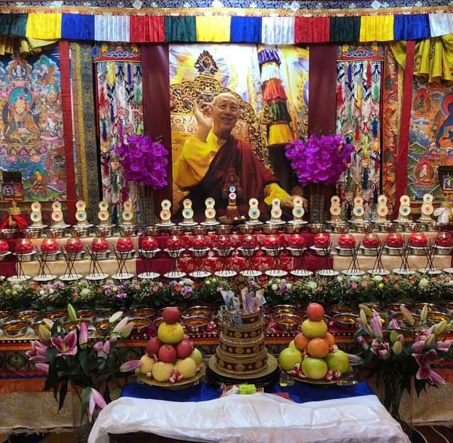 Shrine in honour of HH Thubten Palzang Rinpoche