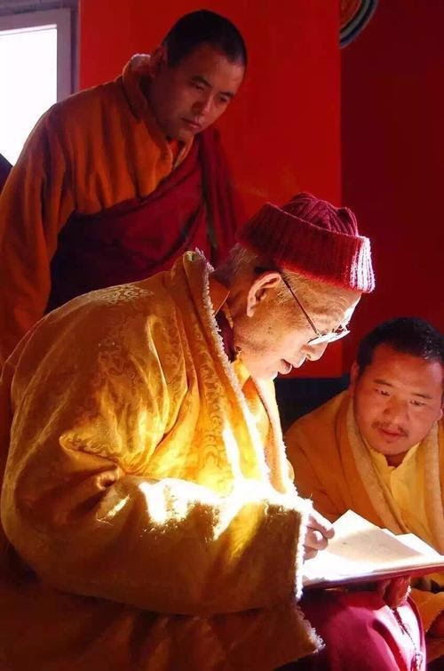 HH Thubten Palzang Rinpoche proof reading of text