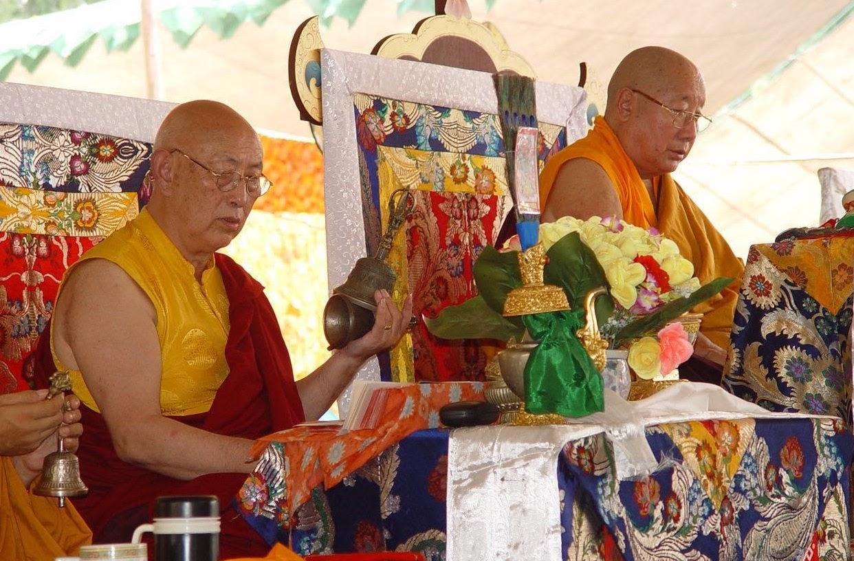 HH Drubwang Pema Norbu Rinpoche and HH Thubten Palzang Rinpoche