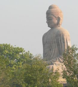Statue of Lord Shakyamuni Buddha at Bodhgaya, India