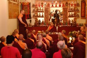 Teaching at Palyul Tibetan Buddhist Meditation Centre, Newcastle upon Tyne, UK