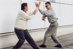 Prof. Jiang Hao Quan with Lama Dondrup Dorje practising Bagua Zhang together