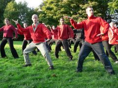 Pathgate Students in the UK Practising Silk Reeling Qigong