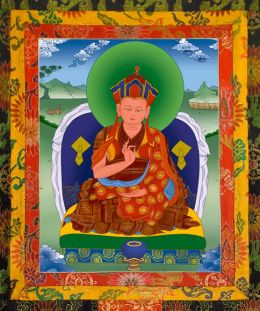 Thangka image of The First Karma Kuchen Rinpoche