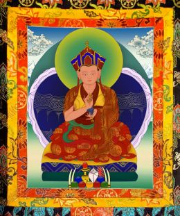 Thangka image of The Second Karma Kuchen Rinpoche