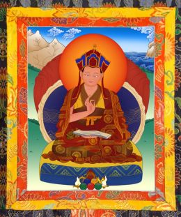 Thangka image of The Second Drubwang Pedma Norbu Rinpoche
