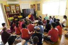 Ven. Lama Dondrup Dorje giving teaching at the Pathgate Dharma Centre in Sydney, Australia
