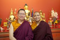 Ven. Lama Dondrup Dorje with Omje Wangchen