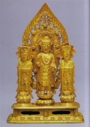 Pure Gold Buddha Quintuplet from the Ryun Namkoong Family Collection