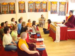 Lama Dondrup Dorje teaching in Greece