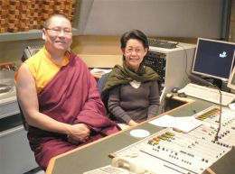 Lama Dondrup Dorje with Muntha Crowe of the Australian Broadcasting Corporation