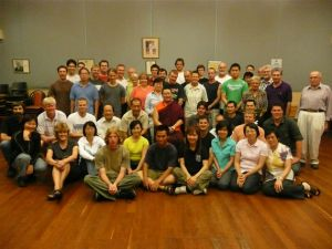 Lama Dondrup Dorje with students in Adelaide