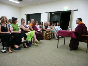 Lama Dondrup Dorje giving Dharma Talk at Philip Island