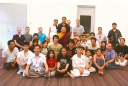 Lama Dondrup Dorje with students and friends in Sydney