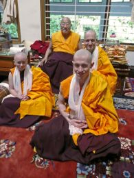 HH Penor Rinpoche with Newly Ordained Students
