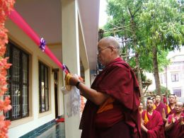 Official Opening of New Building for Classes by Khenpo Pema Sherab