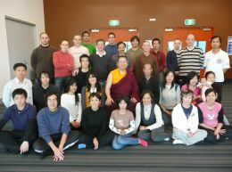 Lama Dondrup Dorje with students in Sydney