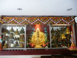 New altar for Mahakala Protector practice at the Palyul Nyingma Buddhist Association in Singapore