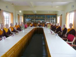 Ven. Lama Dodnrup Dorje and Pathgate students were the guests of Khenpo Tsering Namgyal, the Junior School Principal, at the newly renovated and refurbished Junior School Conference Hall