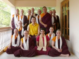 HE Gyangkhang Rinpoche with Ven. Lama Dondrup Dorje and Pathgate students