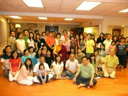 Some of the students who attended the teaching on 'Buddhist Medicine and Healing' at the Selengor Centre of the Buddhist Gem Fellowship