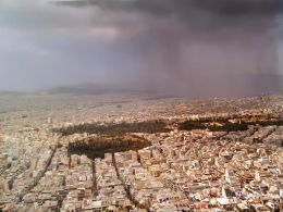 Storm Clouds photographed from Lycabettus Hill