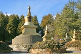 Stupas at the centre of the KPC Peace Park