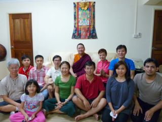 Students who requested taking refuge from Ven. Lama Dondrup Dorje at the teaching in Singapore