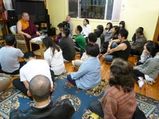 Ven. Lama Dondrup Dorje giving teaching at the Pathgate Dharma Centre in Sydney