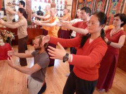 Qigong practice at the Classical Internal Arts Foundation Study Retreat