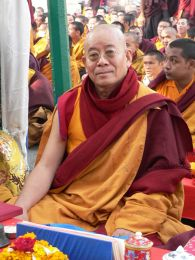 Khenpo Pema Sherab at Bodhgaya, India