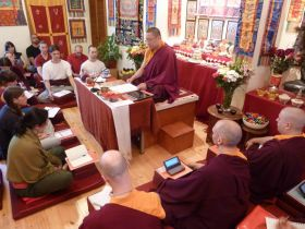 Ven. Lama Dondrup Dorje giving Teaching on Dependent Origination