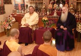 Ven. Lama Dondrup Dorje with His Excellency Malkhaz Songulashvili