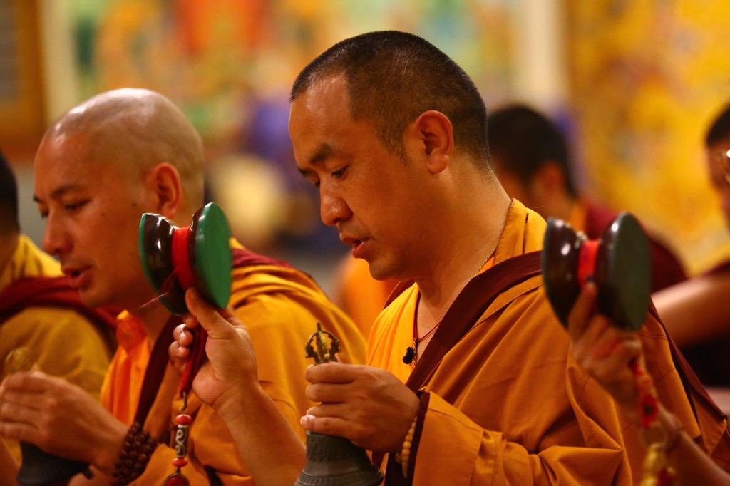 Lama Nurbu Samdup la Mănăstirea Namdroling