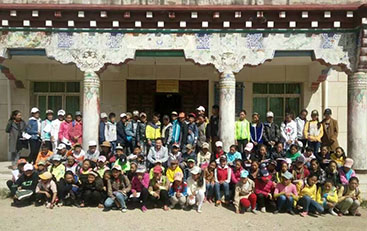 Students at Gyalten School in Kandze County, Tibet