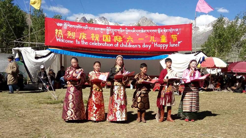 Students of Gyalten School in Tibet celebrates Children's Day