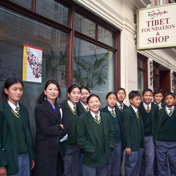 Tibetan Refuge Children from India visit Tibet Foundation in London