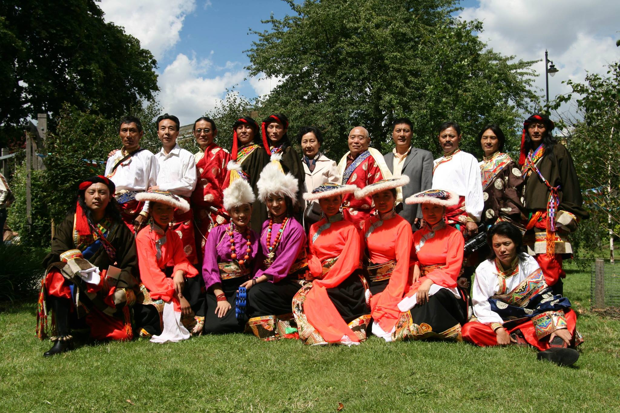 Serthar Gesar Art Troupe from Tibet, on a tour to UK sponsored by Tibet Foundation