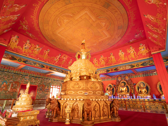The Great Relics Stupa of HH Penor Rinpoche at Namdroling Monastery