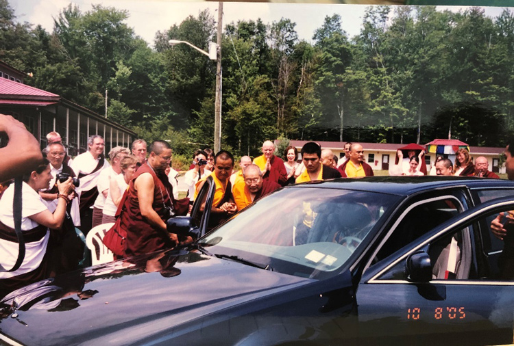 Photo of His Holiness Penor Rinpoche from collection of albums