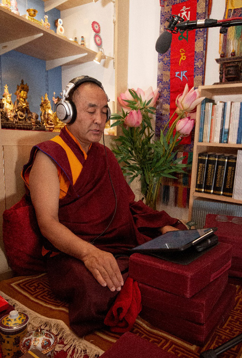 Khenpo Nyima Dondrup Rinpoche at the Pathgate Dharma Centre