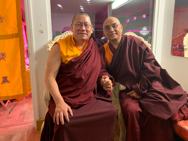 Lama Dondrup Dorje Rinpoche with Khenpo Tenzin Norgey Rinpoche in New York