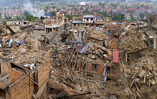 Nepal earthquake in 2015
