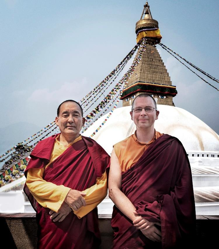 Khenpo Nyima Dondrup Rinpoche with Thubten Loday Gonpo