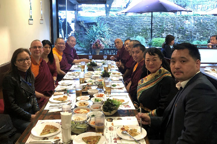 Private lunch given in honour of Chogtrul Gyangkhang Rinpoche