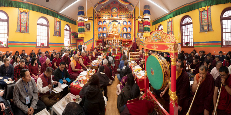 The new Nyingma Palyul Dharma Center in the Queens district of New York