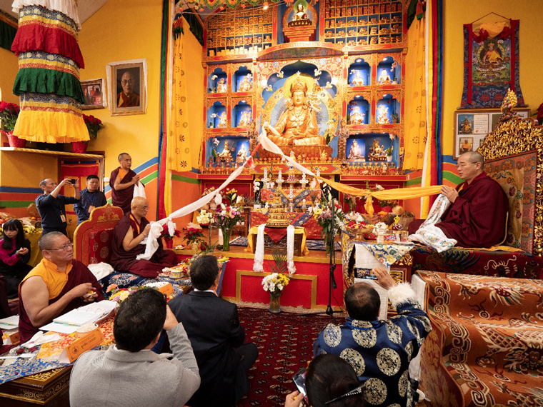 Opening Prayers inside the new Palyul Center