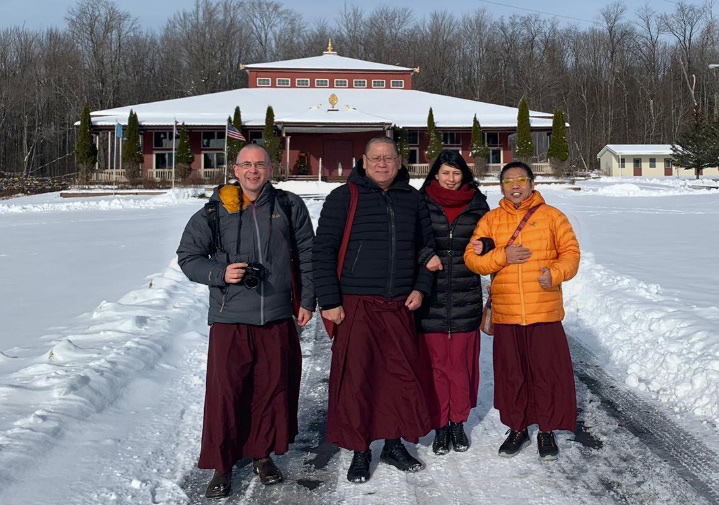 Outside the Upstate New York Retreat Center