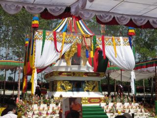 The cremation stupa for His Holiness Pema Norbu Rinpoche's Holy Kudung