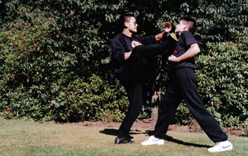 Venerable Lama Dondrup Dorje demonstrating Wing Chun Gongfu